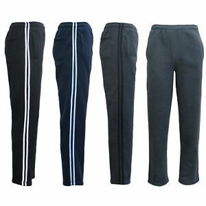 New-Men-039-s-Fleece-Lined-Striped-Casual-Sport-Track-Suit-Sweat-Pants-Gym-Trackies
