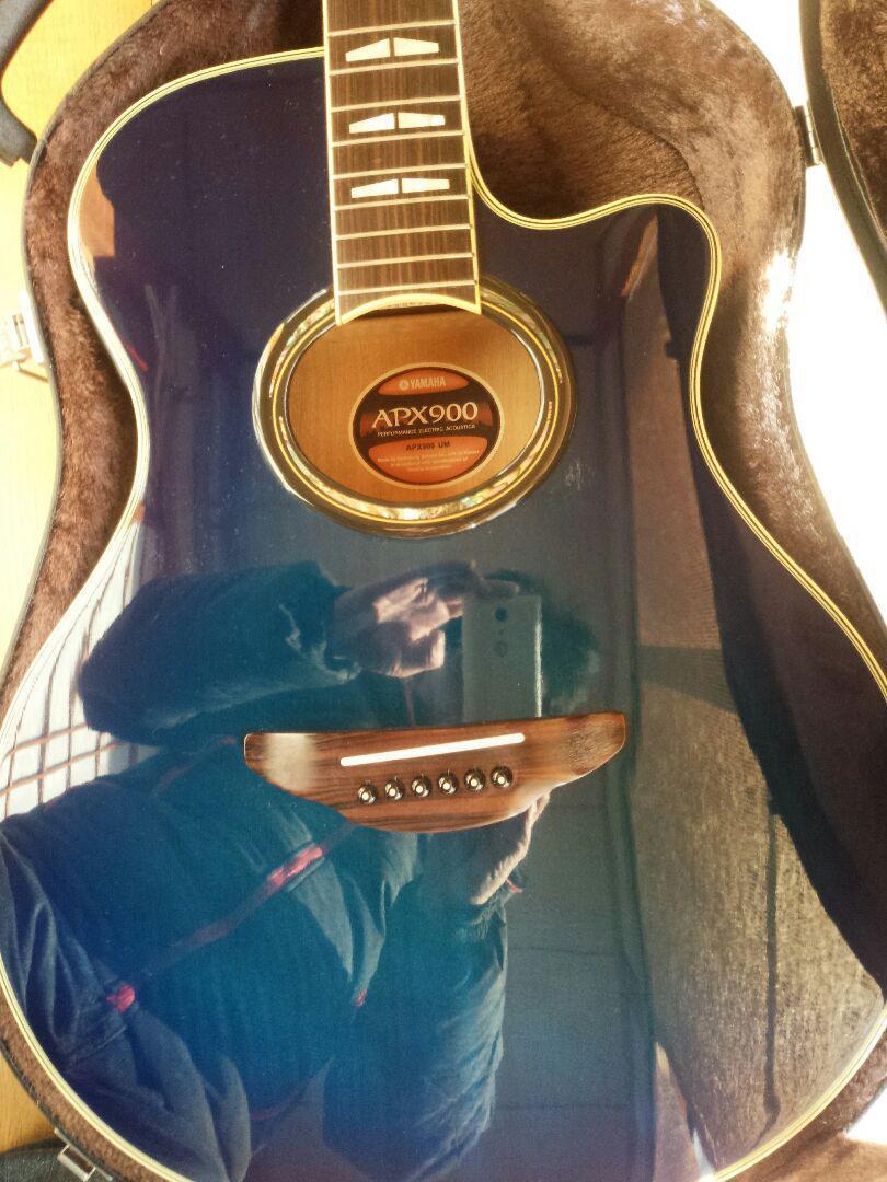 Guitarra acústica YAMAHA apx900 apx900 apx900 Japón Antiguo Retro Popular F S EMS Hermoso  8f550e