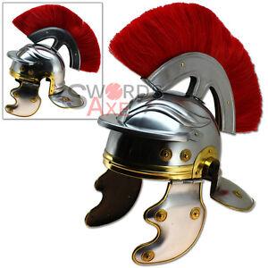 Roman Galea Imperial Legion Helmet - Red Horse Hair Plume Forged Steel