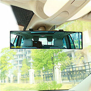u-Box Auto Car 300mm Wide Convex Curve Interior Clip On Panoramic Rear View Mirror