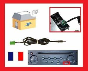 cable auxiliaire aux prise audio autoradio mp3 pour renault clio megane 2 ebay. Black Bedroom Furniture Sets. Home Design Ideas