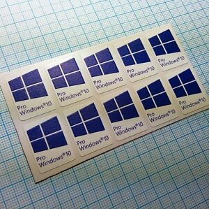 Details About 10 X Windows 10 Pro Sticker Badge Aufkleber Hd Quality Blue 226