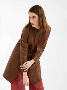 MAX-MARA-WEEKEND-NAPPA-LEATHER-DUSTER-COAT-WITH-CREW-NEW-RETAILS-575