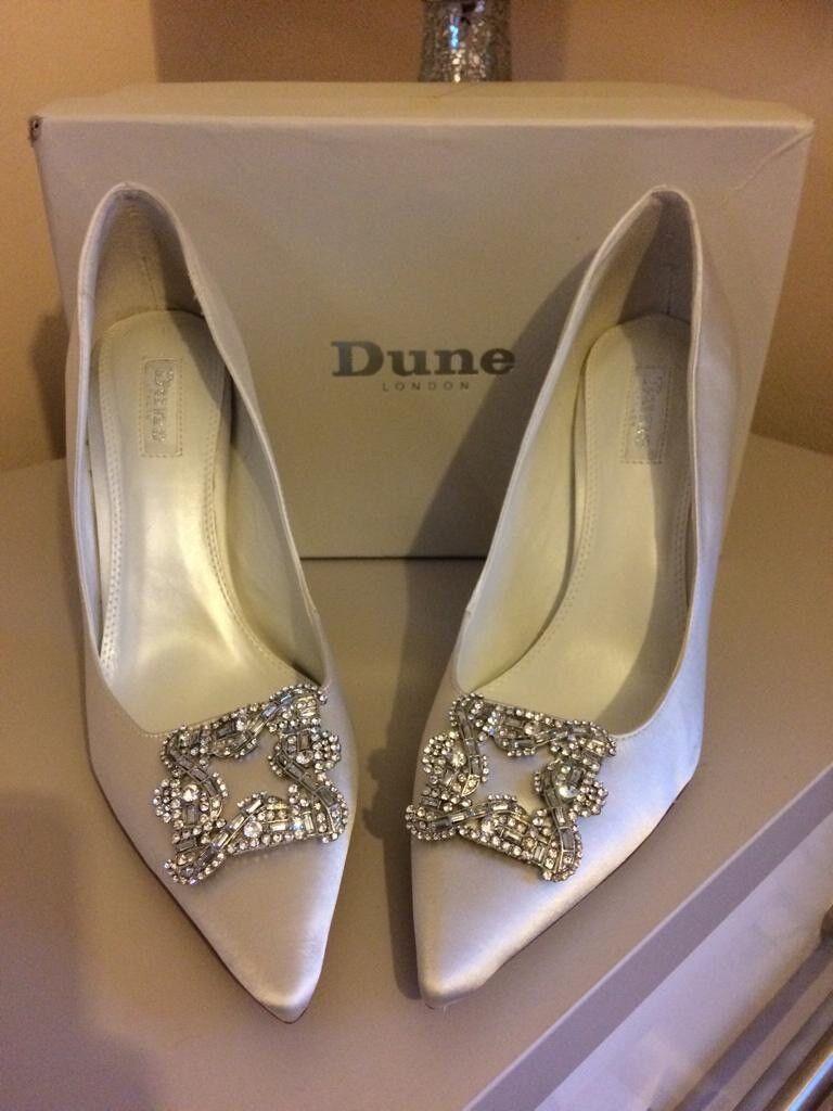 Dune Ivory Satin Breanna bröllop skor skor skor Storlek  säljer bra över hela världen