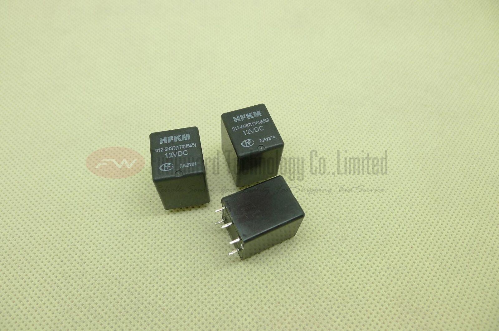 170 555 HFKM//012-SHST HFKM-012-SHST 12VDC Automotive Relay 5 Pins x 2PCS NEW