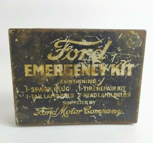 1920s-FORD-Motor-Company-Emergency-Kit-Tin-Box-Empty-Metal-Spares