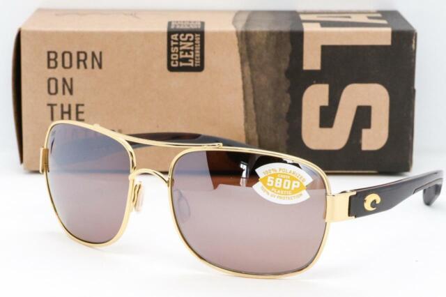 Costa Del Mar North Turn Polarized Sunglasses Palladium Black//Silver Mirror 580P