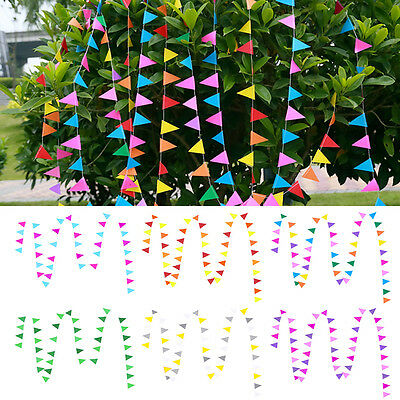 Triangle Flag Bunting Banner Garland Hanging Wedding Party Home Decoration
