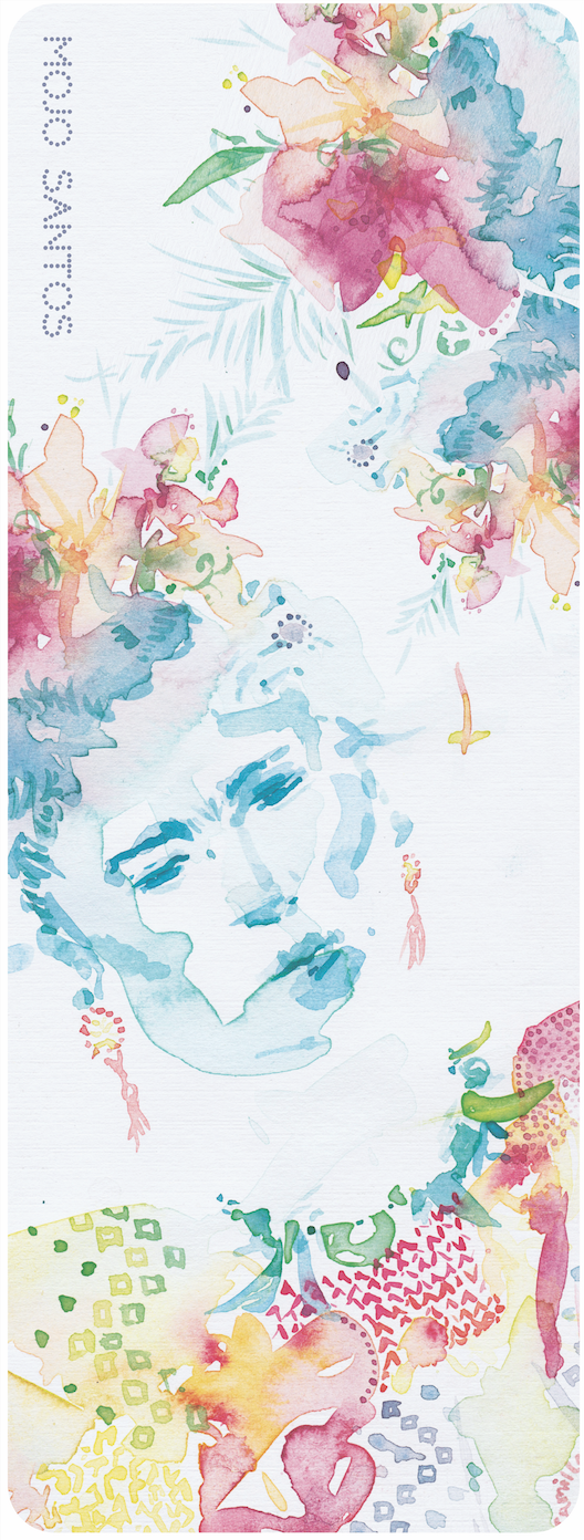 LUXE Eco Fitness / Yoga Mat 'Frida' Kahlo Watercolour Original Artwork