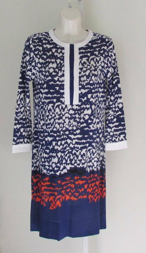 Diane von von von Furstenberg Achelle Scribble Lines Placement bluee dress tunic 0 white b675a1