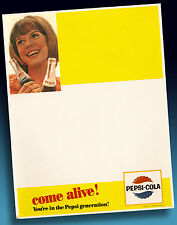 PEPSI COLA | ALTES WERBEBLATT > BLANK UNBENUTZT 1965 > SELTENST > COME ALIVE!