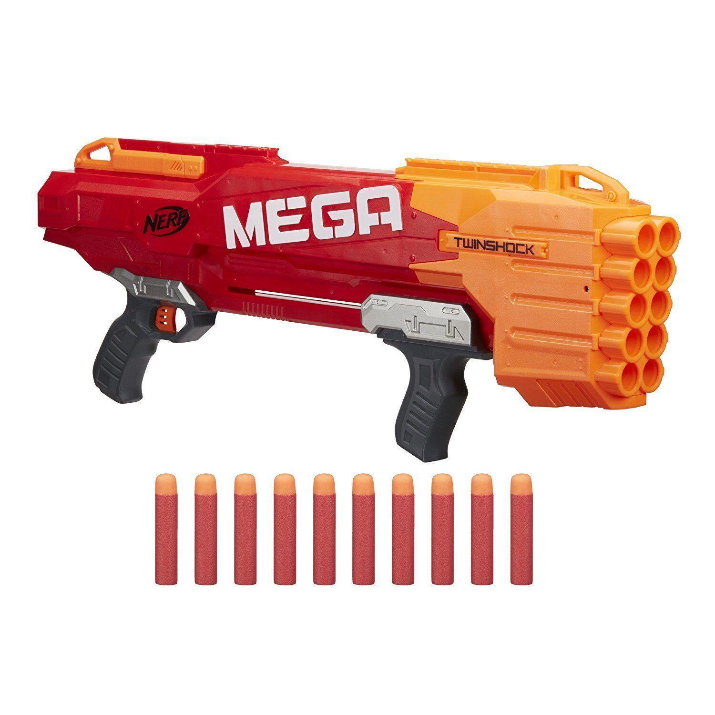 Nueva Marca Nerf N-Strike Elite Mega TWINSHOCK Dart Blaster