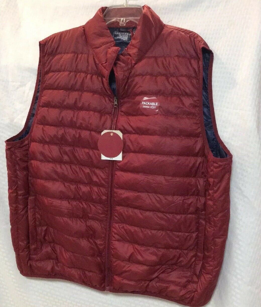 New Saddlebred Down Puffer Vest  Size XX-Large color Navajo Red
