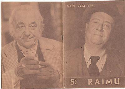 NOS VEDETTES  RAIMU cinéma vintage