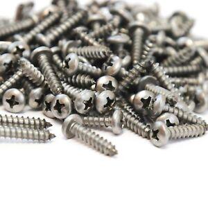"100 Pan Head Self Tapping Screw Set Sheet Metal #8 x .75/"" 304 SS Stainless Steel"