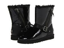UGG AUSTRALIA BLAISE PATENT BLACK BOOTS SZ 6 YOUTH fits WOMENS SIZE 8 NEW