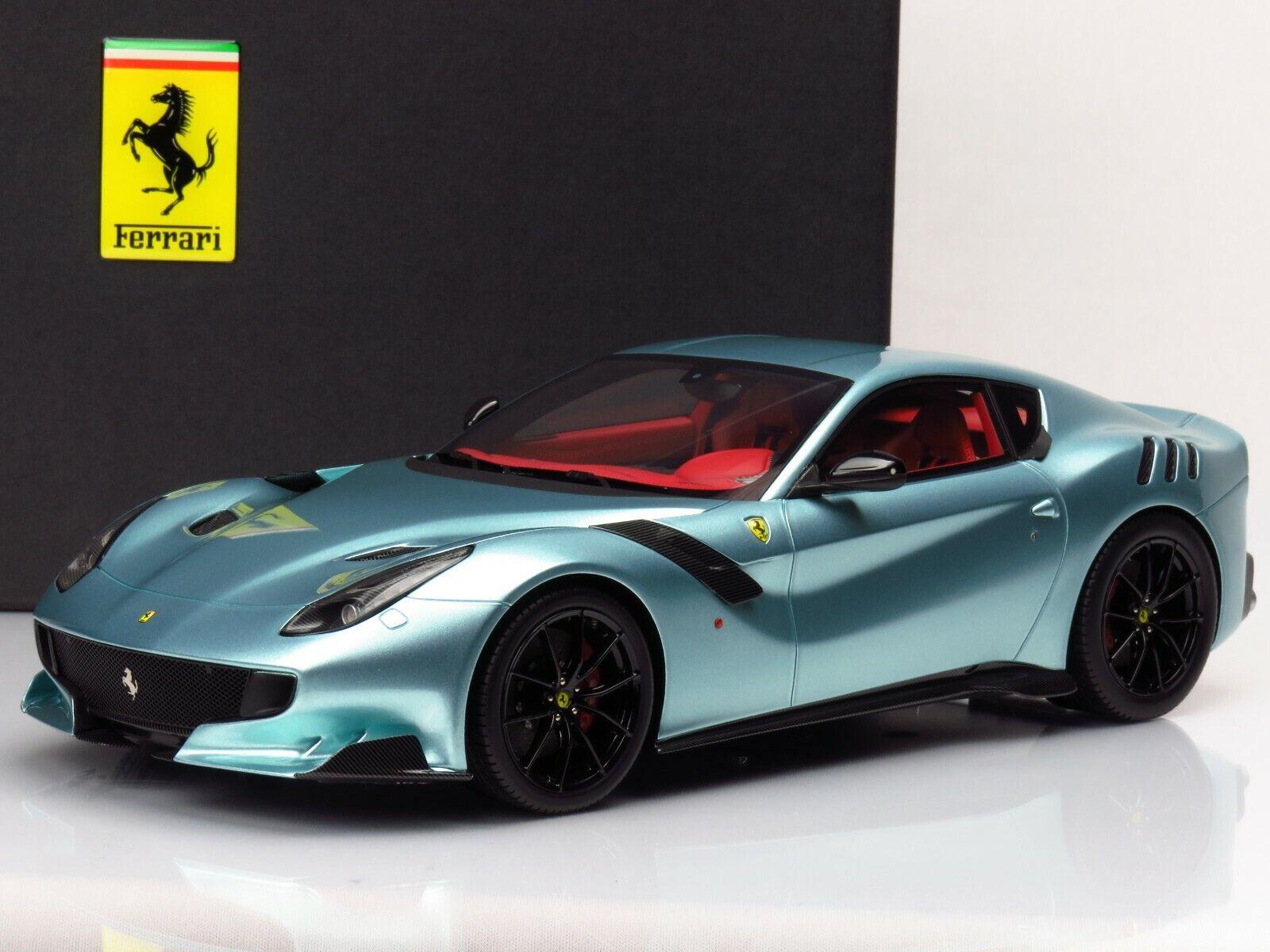 1 18 BBR Deluxe Ferrari F12 TDF bleu clair rcdl 204 numéro 6 10 A  Rare