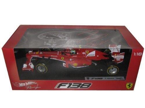 Hot Wheels Ferrari F2013 F138 Felipe Massa Formula 1 2013 F1 1/18 Pressofuso