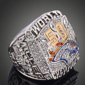 Mens-039-2015-Denver-Broncos-Championship-Ring-Sport-Fans-Gift-Size-9-12