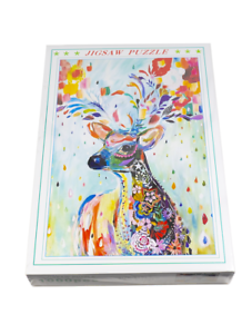 Adults 1000 Piece Colorful Deer Jigsaw Puzzle for Kids