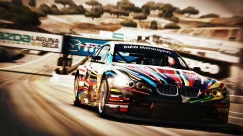BMW Motorsport Racing Car Art Picture