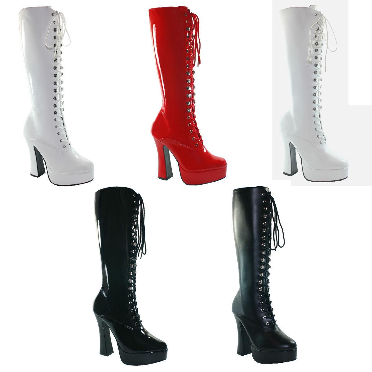 Zapatos de mujer baratos zapatos de robusta mujer Electra - 2020 robusta de Pleaser tacón alto plataforma botas charol símil cuero GR 36-47 13d2ad