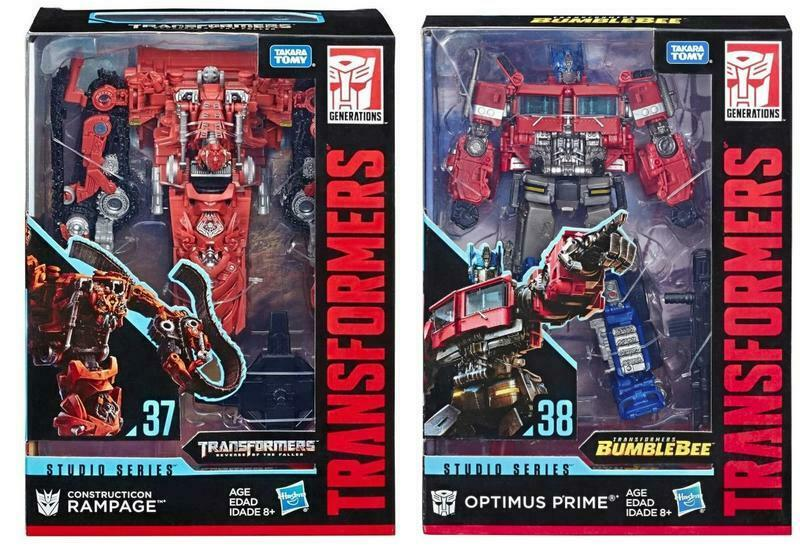 (In-Hand) Transformers Studio Series SS38 Voyager Optimus Prime & SS37 Rampage