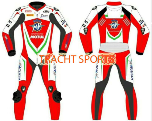 MV AGUSTA Motorbike Leather Racing motorcycle Suit all sizes Available