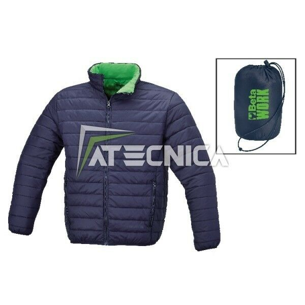 Bomber padded effect feather transportable in bag BETA 7685BL bluee green