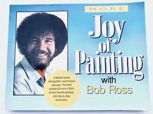60  color Paintings BOB ROSS A SPECIAL BOOK TITLED NEW JOY OF PAINTING