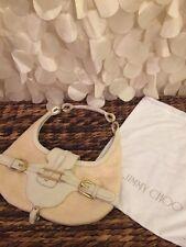 Authentic jimmy choo Cream/white leather talia shoulder bag hobo!!!