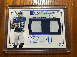 2015-Panini-Flawless-Phillip-Dorsett-Rookie-Patch-ON-CARD-AUTO-RPA-Colts-16-20