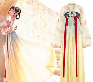Womens Hanfu Dress Embroidery Tops Chest Skirt Hem 3m Tang Dynasty Costume Gjxia
