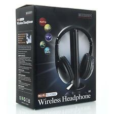 3PCS Stereo 5 in 1 Wireless Headset Headphone FM Radio for Laptop PC TV Audio US