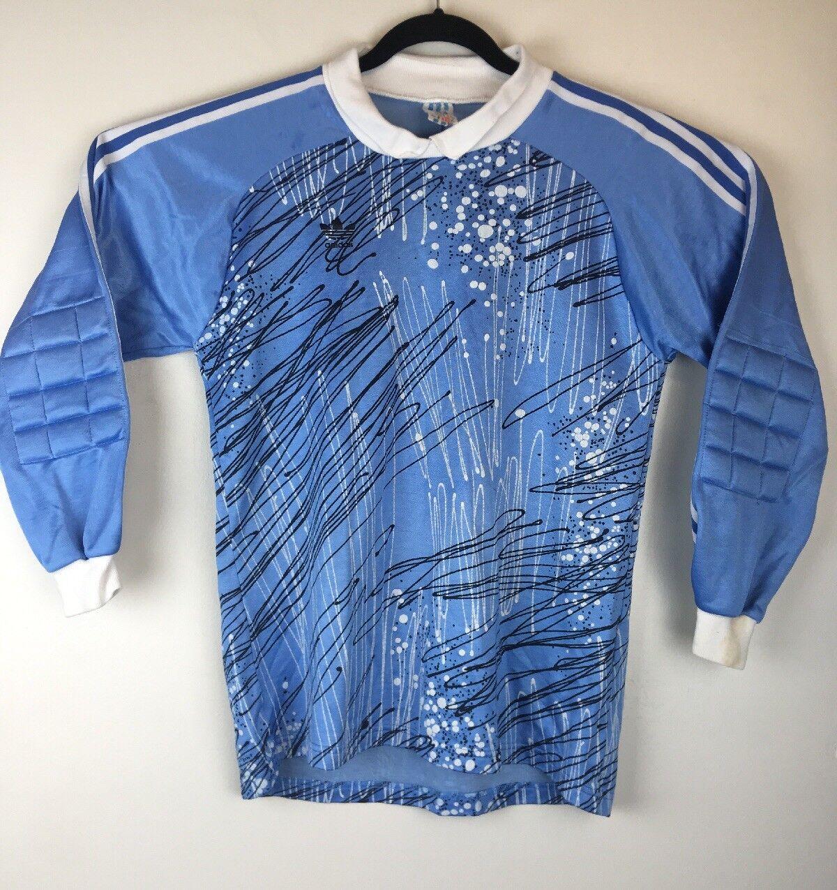 03dafa588 Vintage Adidas Goalkeeper Jersey Goalie silverina Padded bluee White Size M  J5