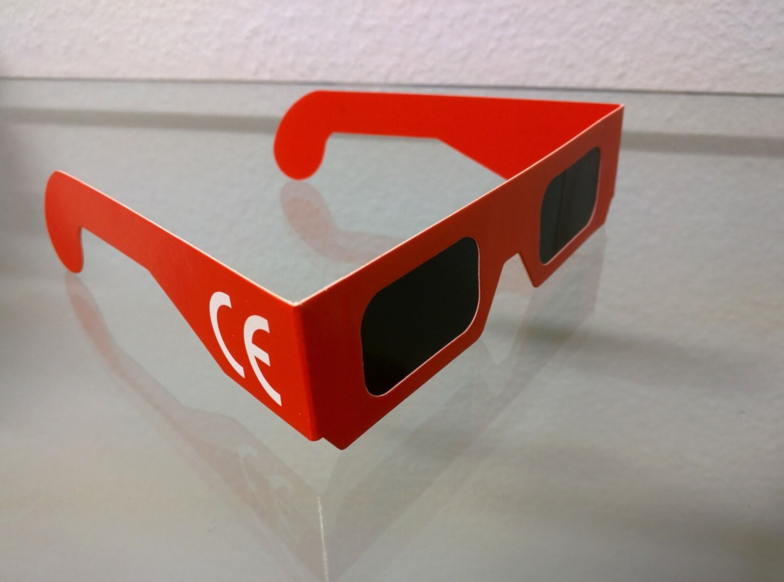 Solar eclipse glasses (box of 1000) - CE marking - Red