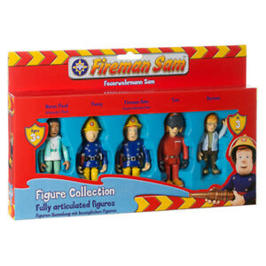 New-Fireman-Sam-5-Articulated-Figures-Sam-Tom-Nurse-Flood-Norman-Penny-Set