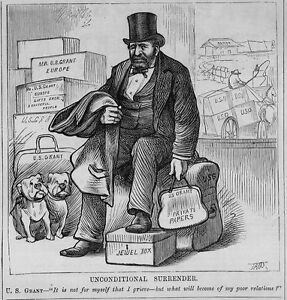 ulysses s grant sitting on his luggage private papers unconditional