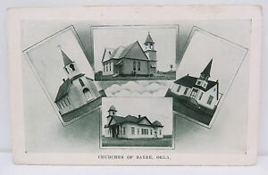 Churches-of-Sayre-1910-Cancel-on-Postcard-Ak-Postcard-USA-A2675