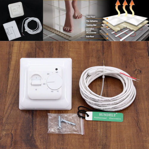 Digital Manual Thermostat For Underfloor Electric Heating Systems 16Amp Room New