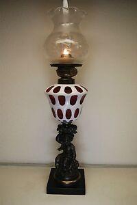 ANTIQUE-OIL-KEROSENE-BOSTON-SANDWICH-CUT-EAPG-GLASS-GWTW-VICTORIAN-BANQUET-LAMP