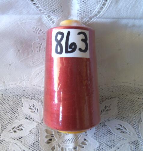 NEW 1 Red//Orange 6000 Yard spool 100/% spun polyester Sewing Serger thread #863