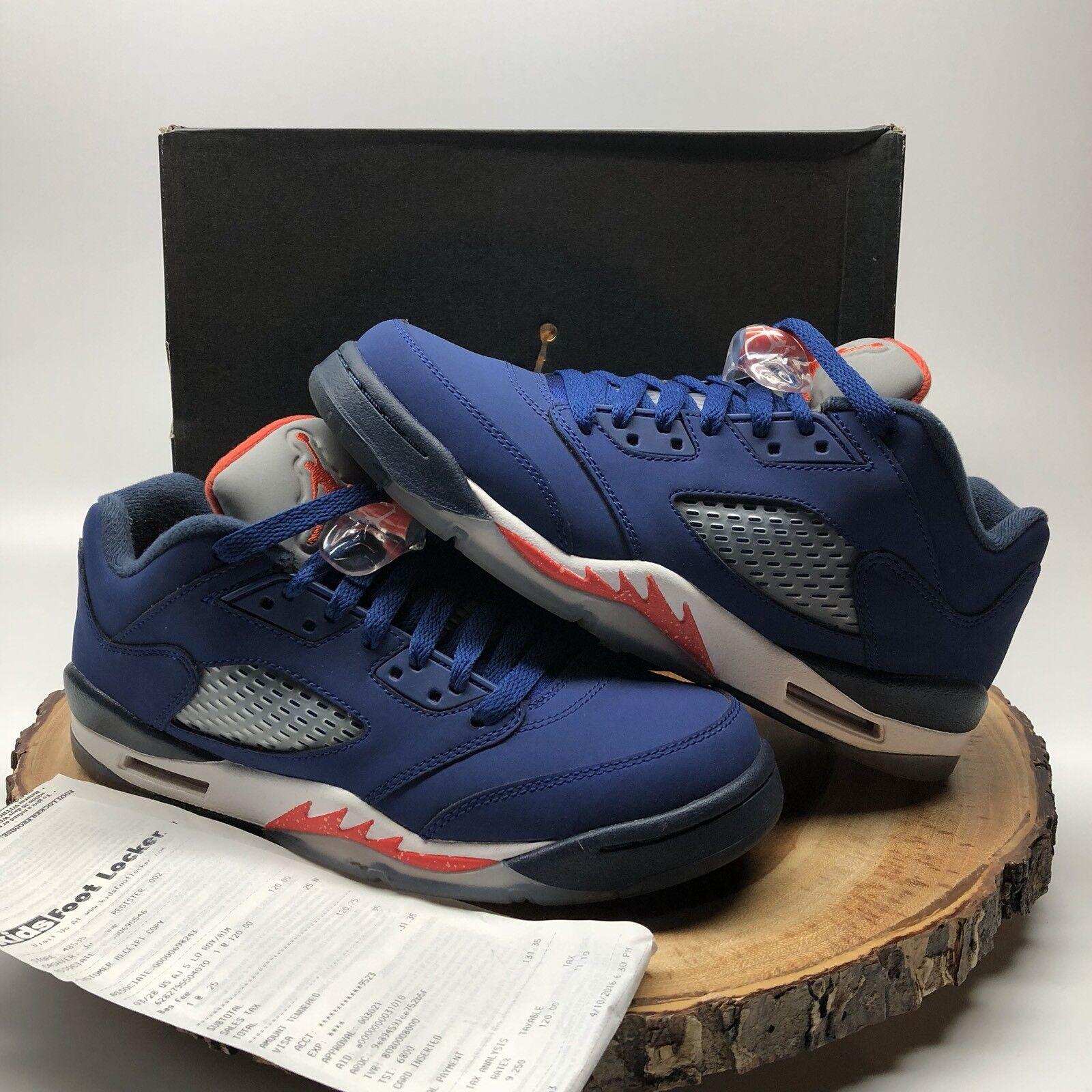 Nike Air Jordan Retro V Low blueee Knicks orange Size 7y 314338 417 Fire Red XI IV
