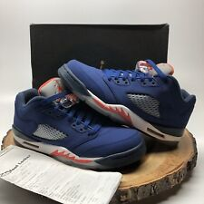 063c7f882d7b item 4 Nike Air Jordan Retro V Low Blue Knicks Orange Size 7y 314338 417 Fire  Red XI IV -Nike Air Jordan Retro V Low Blue Knicks Orange Size 7y 314338  417 ...