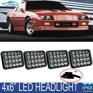 fit 1982 1992 chevy camaro iroc z28 4 x6 led headlights drl conversion sealed 711091669426 ebay. Black Bedroom Furniture Sets. Home Design Ideas