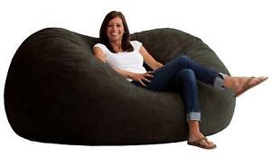 Strange Big Joe Fuf Foam Filled Bean Bag Chair Size Xl Black Onyx Machost Co Dining Chair Design Ideas Machostcouk