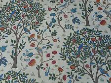 William Morris Curtain Fabric 'Kelmscott Tree' 2.45 METRES (245cm) Woad/Wine