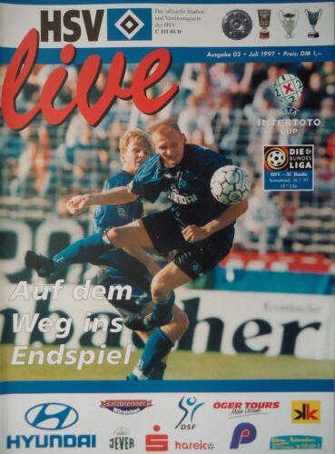 SC Bastia Programm UEFA Intertoto 1997 Hamburger SV