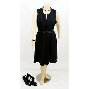 CITY CHIC Black Fit & Flare Wedding / Party dress | Plus Size: XL (20)