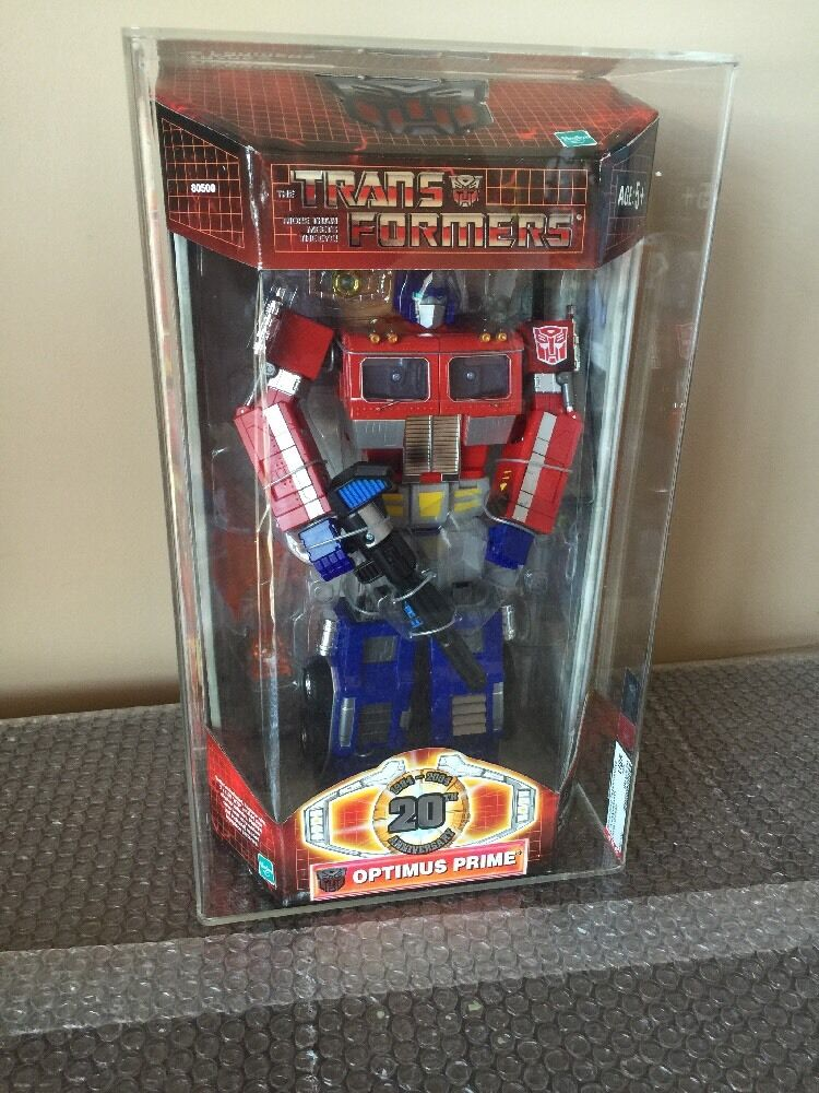 2004 Hasbro Transformers 20th Anniversary Optimus Prime Stunning AFA U85 WOW